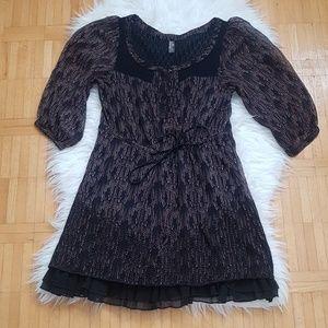 Free people paisley flowy medi dress size XS